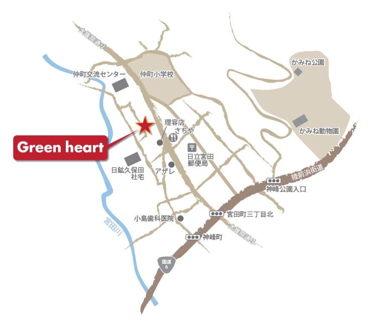 Green heart地図